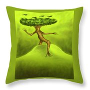 Walking Tree  Throw Pillow