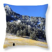 Walking Under The Moon Throw Pillow
