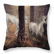Walking Unicorns Throw Pillow