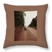 Walking Up North With Grandma Throw Pillow