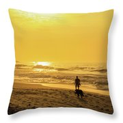 Walking With My Best Friend Throw Pillow
