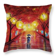 Walking With My Love Throw Pillow
