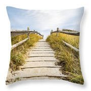 Walkpath To The Beach Throw Pillow