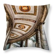Walkway At Our Lady Of Victory Throw Pillow
