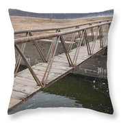 Walkway Over The Canal Throw Pillow