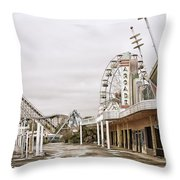 Walkway To The Arcade Throw Pillow