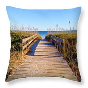 Walkway To The Beach #1 Throw Pillow