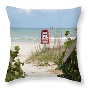 Walkway To The Beach Throw Pillow