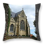 Walkway To Thorn Cathedral Throw Pillow