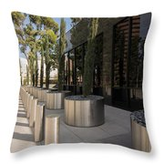 Walkway With Reflection Throw Pillow