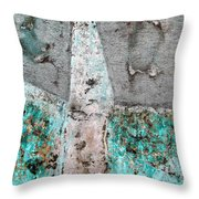 Wall Abstract 118 Throw Pillow