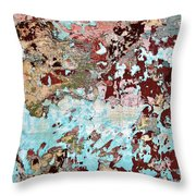 Wall Abstract 128 Throw Pillow