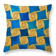 Wall Decoration From The Temple Of Amun At Malqata Throw Pillow