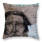 Wall Drawing Throw Pillow