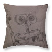Wall-e With Plant Throw Pillow