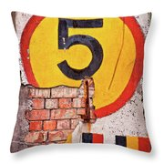 Wall Five Throw Pillow