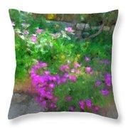 Wall Flowers, Croatia Throw Pillow