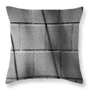 Wall In Shadow Throw Pillow