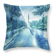 Wall Of Heroes No 2 Throw Pillow