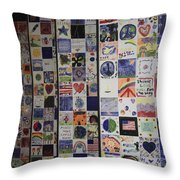 Wall Of Hope Throw Pillow