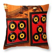 Wall Of Records Throw Pillow