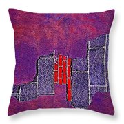 Wall Of Violet Textures Throw Pillow