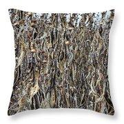 Wall Of Weeds - 2 Throw Pillow