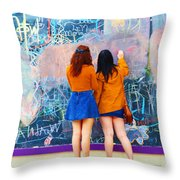 Wall Of Wishes Throw Pillow