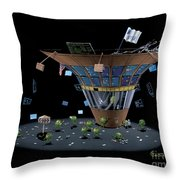 Wall St Martini Throw Pillow