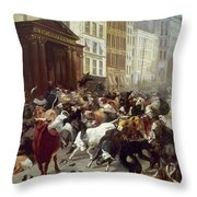 Wall Street: Bears & Bulls Throw Pillow