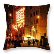 Wall Street Evening Throw Pillow