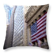 Wall Street, Nyc Throw Pillow