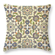 Wall Tiles Of Qasr Rodouan Throw Pillow