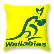Wallabies Throw Pillow