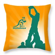 Wallabies Rugby Throw Pillow