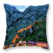 Walled City Throw Pillow