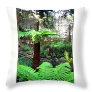 Walled Garden Throw Pillow