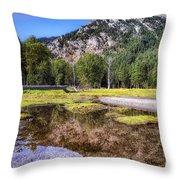 Wallowa Lake Reflections Throw Pillow