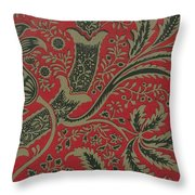 Wallpaper Sample With Bamboo Pattern By William Morris Throw Pillow