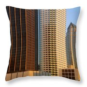 Walls Of Commerce Throw Pillow