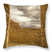 Walls Of Time Throw Pillow