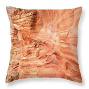 Walls Of Wash 3 In Valley Of Fire Throw Pillow