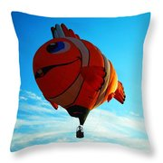 Wally The Clownfish Throw Pillow