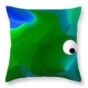 Wally Whale Throw Pillow