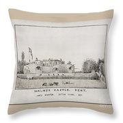 Walmer Castle Kent Throw Pillow