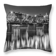 Walnut Street Bridge And Capitol Throw Pillow