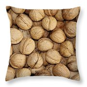 Walnuts Throw Pillow