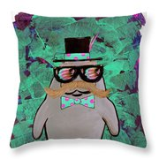 Walrus Brimley - Confused Manatee? Throw Pillow
