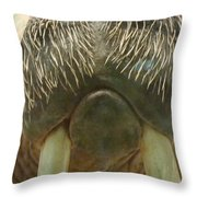 Walrus Whiskers Throw Pillow