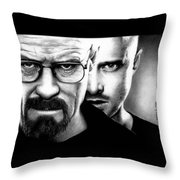 Walt And Jesse Throw Pillow